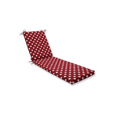 Indoor/Outdoor Polka Dot Red Chaise Lounge Cushion - Pillow Perfect