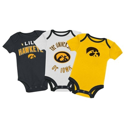 NCAA Iowa Hawkeyes Baby Boys' 3pk Bodysuit Set