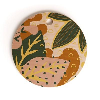 "13"" Wood Alisa Galitsyna Floral Magic Cutting Board - society6"