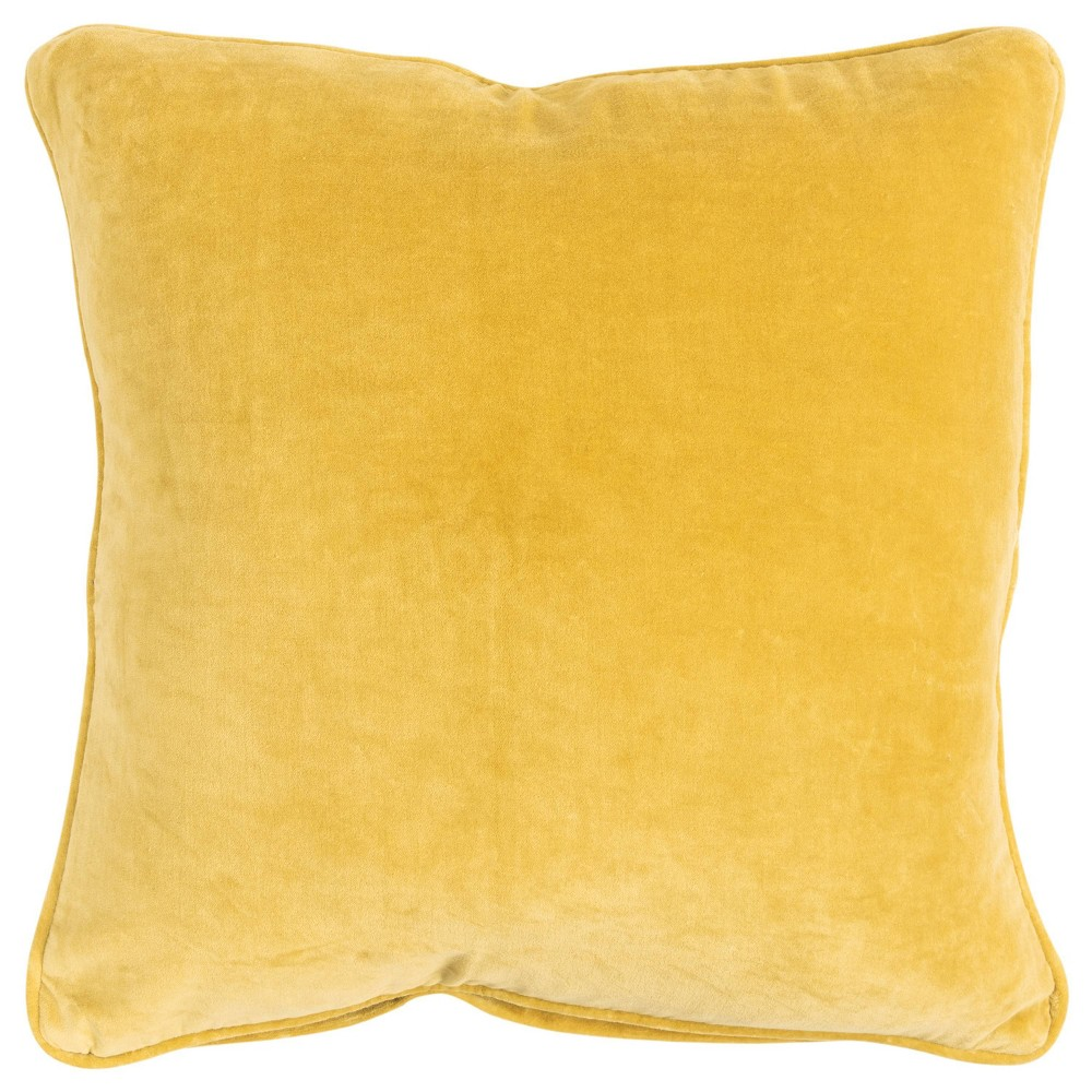 Image of Connie Post Solid Poly Filled Pillow Yellow - Rizzy Home