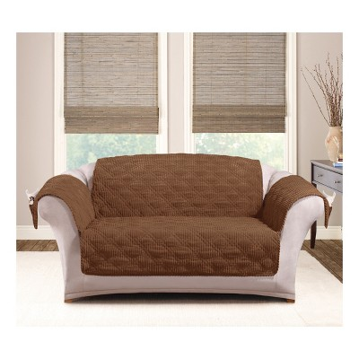 Brown Wide Wale Corduroy Loveseat Furniture Cover   Sure Fit : Target
