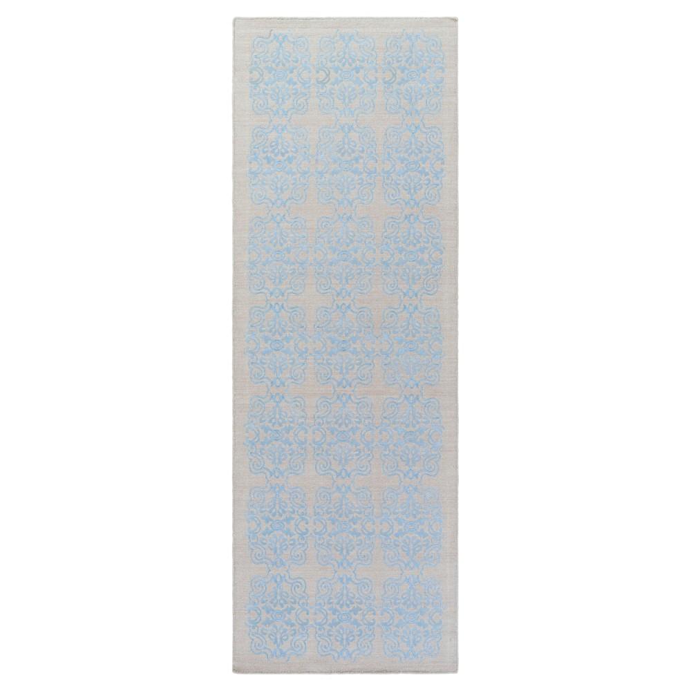 Denim Blue Solid Woven Runner - (2'6X8' Runner) - Surya, Black Denim