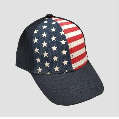 Toddler Boys' Americana Star Baseball Hat - Cat & Jack™ Navy 2T-5T