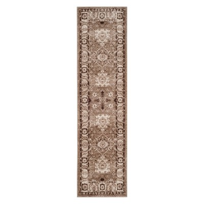 2'2 X10' Floral Loomed Runner Taupe - Safavieh