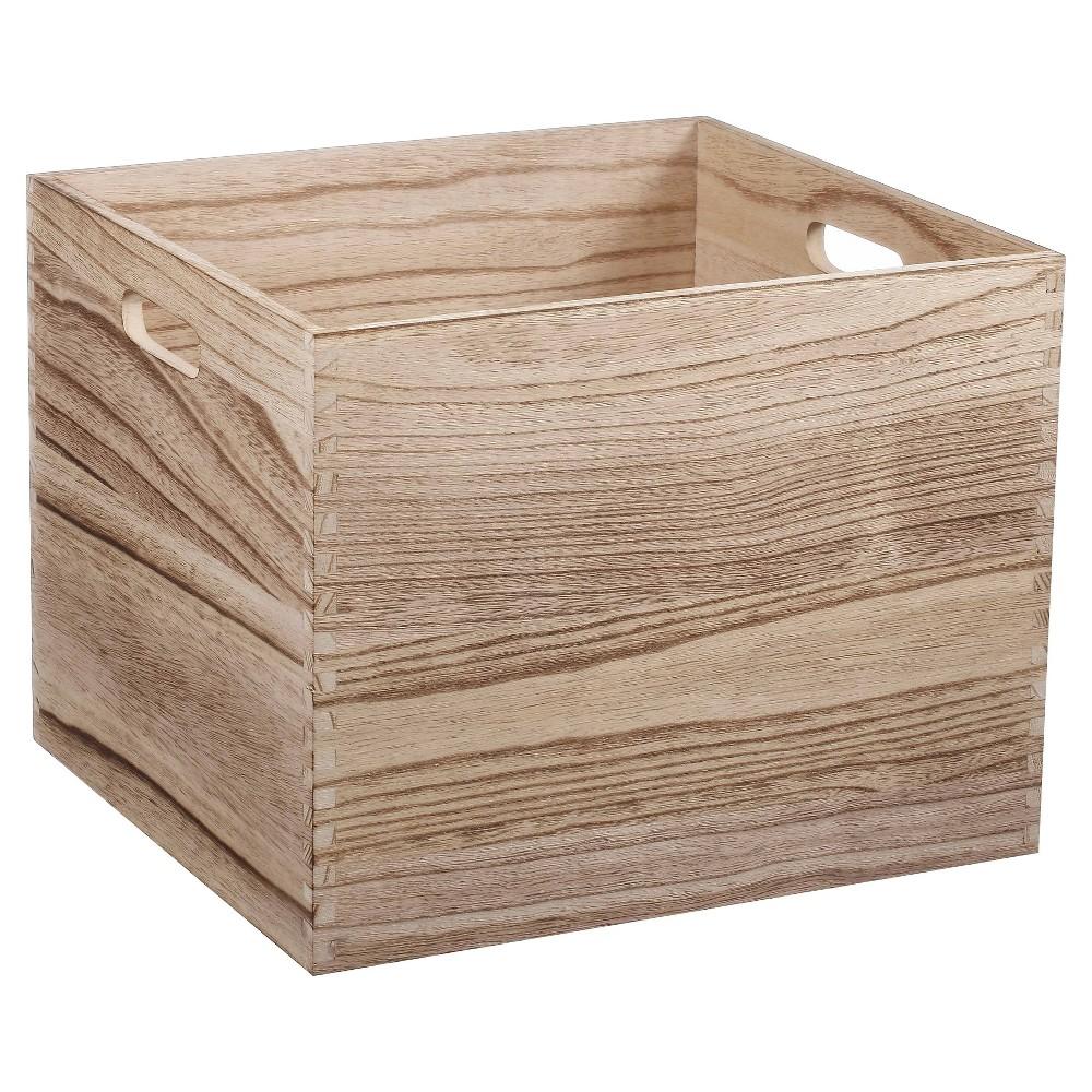 Large Wood Milk Crate - Pillowfort