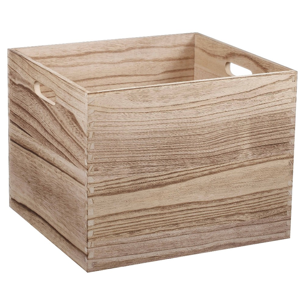 Image of Large Wood Milk Crate Toy Storage Bin - Pillowfort