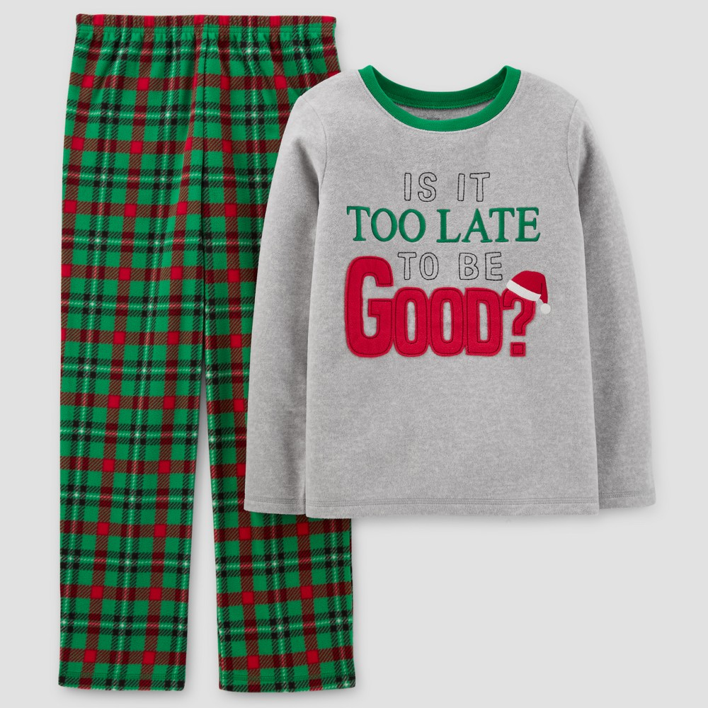 Just One You Made by Carter's Boys' 2pc Too Late To Be Good Pajama Set - Pigeon Gray 10