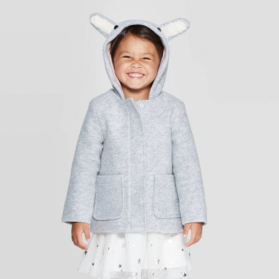 Toddler Girls' Fashion Jacket - Cat & Jack™ Gray 18M