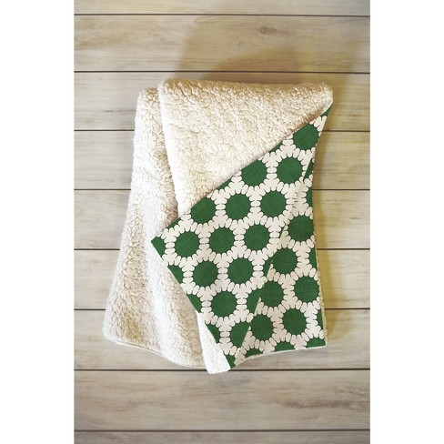 "66""x50"" Holli Zollinger Pincushion Dot Throw Blanket Green - Deny Designs - image 1 of 1"