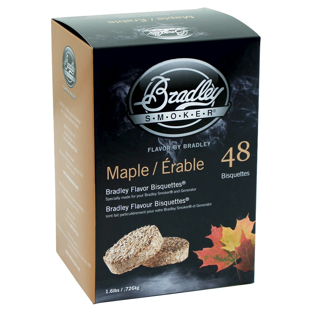 Maple Bisquettes 48 Pack Smoker Box – Bradley Smoker 50189672