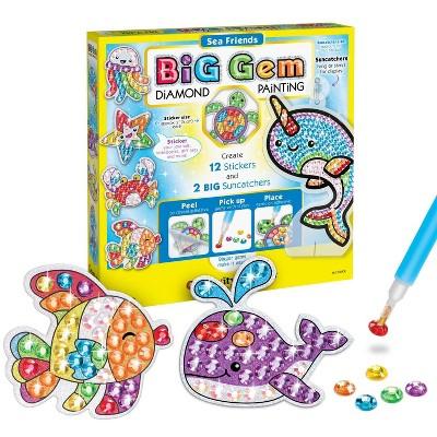 Creativity for Kids Big Gem Diamond Painting Kit - Sea Friends