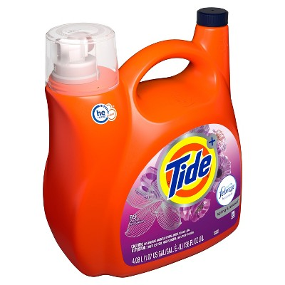 Tide Plus Febreze Spring & Renewal High Efficiency Liquid Laundry Detergent - 138 fl oz