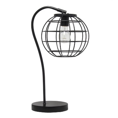 Metal Arched Cage Table Lamp Black - Lalia Home