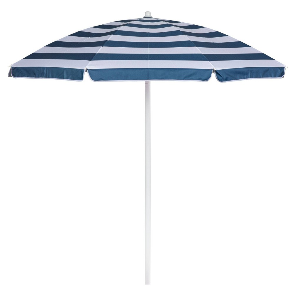 Picnic Time 5 5 39 Beach Umbrella Blue White