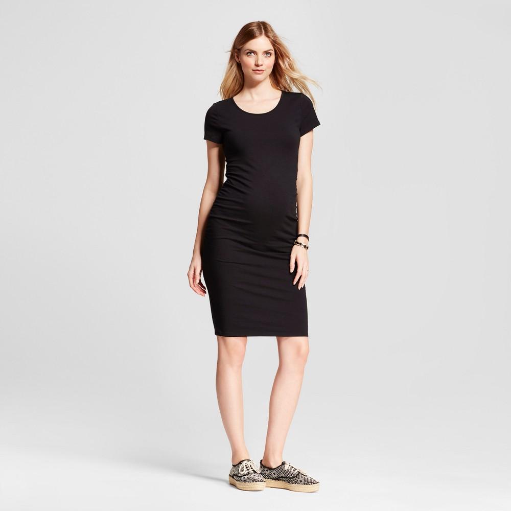 Short Sleeve Shirred T-Shirt Maternity Dress - Isabel Maternity by Ingrid & Isabel Black L was $24.99 now $10.0 (60.0% off)