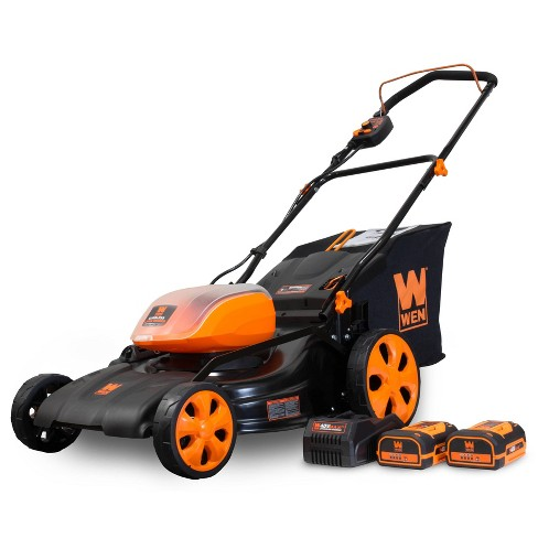 """WEN 40439 40V Max 19"""" Cordless 3-in-1 Lawn Mower With Two Batteries 16gal Bag & Charger - image 1 of 4"""
