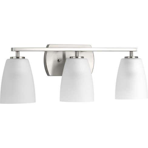 Progress Lighting P300133 Leap 3 Light 22 7 8 Wide Bathroom Vanity Brushed Nickel