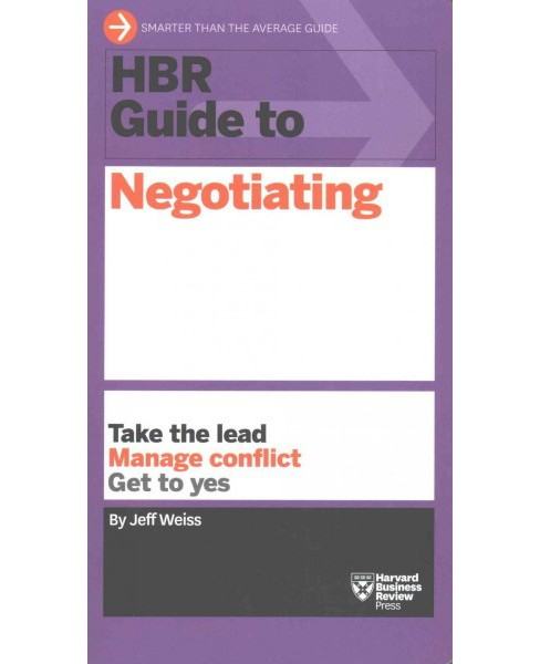 HBR Guide to Negotiating (Paperback) (Jeff Weiss) - image 1 of 1