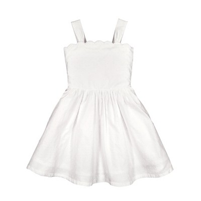 Hope & Henry Girls' Sleeveless Fit and Flare Summer Dress, Kids