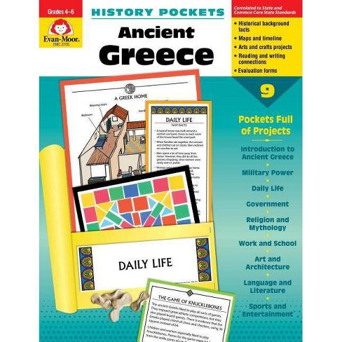 Hist Pocket Ancient Greece Grade 4-6+ - (History Pockets) by  Evan-Moor Educational Publishers - image 1 of 1