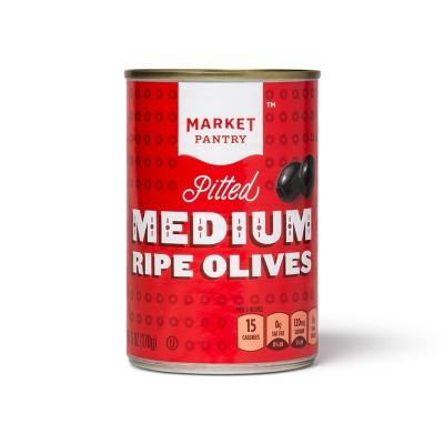 Medium Pitted Black Olives - 6oz - Market Pantry™
