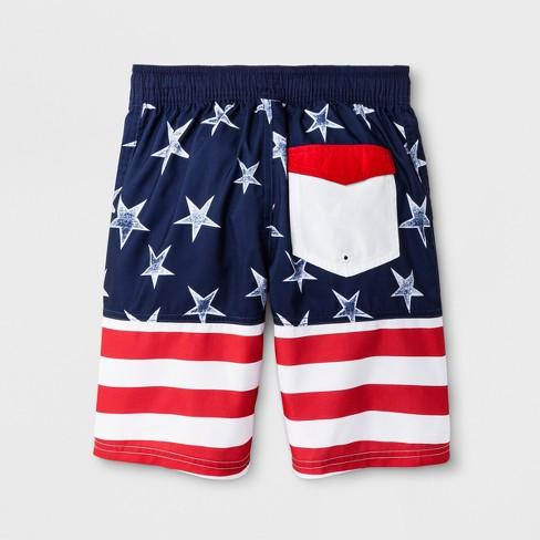 5afb6d5d56 Boys' American Flag Swim Trunks - Cat & Jack™ : Target