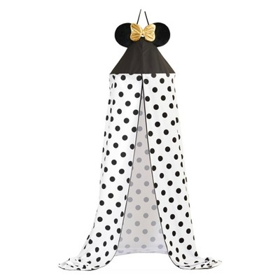 Disney Minnie Mouse One Size Bed Canopy White/Black