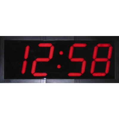 School Smart Large LED Wall Clock with Remote Control, 28 x 11-1/4 Inches