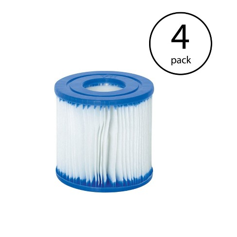 Bestway Swimming Pool Filter Pump Replacement Cartridge Type VII and D (4 Pack) - image 1 of 3