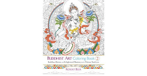 Buddhist Art Adult Coloring Book 2: Buddhas, Deities, and Enlightened Masters from the Tibetan Tradition - image 1 of 1