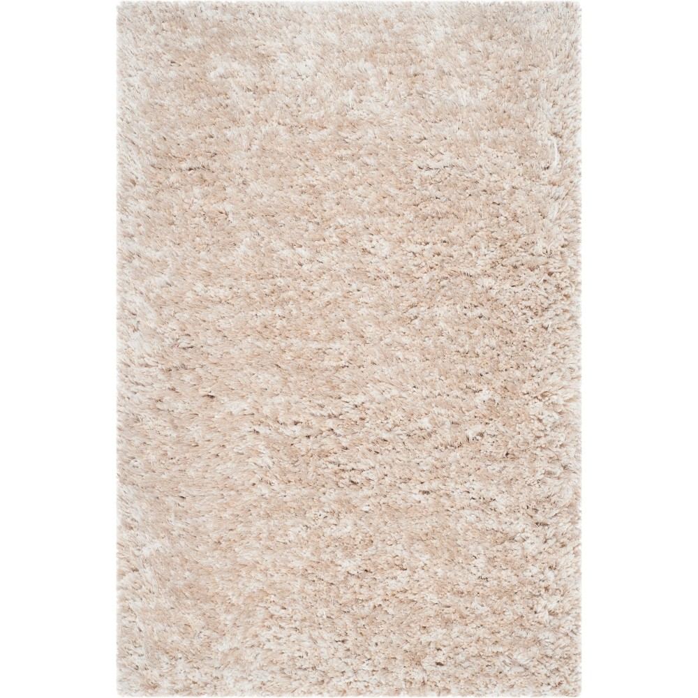 2'X3' Solid Tufted Accent Rug Champagne/Light Gray (Beige/Light Gray) - Safavieh