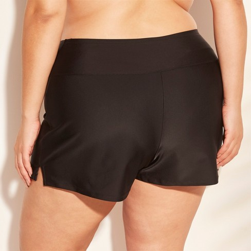 c17f60e50af32f Women s Plus Size Swim Boyshort - Kona Sol™ Black 16W 18W   Target