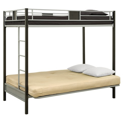 Silver Screen Twin Over Futon Metal Bunk Bed Target