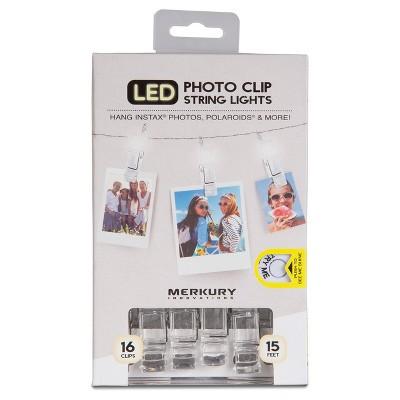 Merkury LED Photo Clip String Lights - White (MI-LSCT1-199)