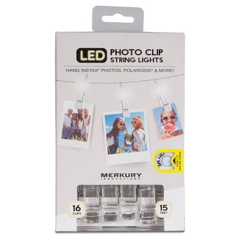 Merkury LED Photo Clip String Lights - White (MI-LSCT1-199) - image 1 of 3