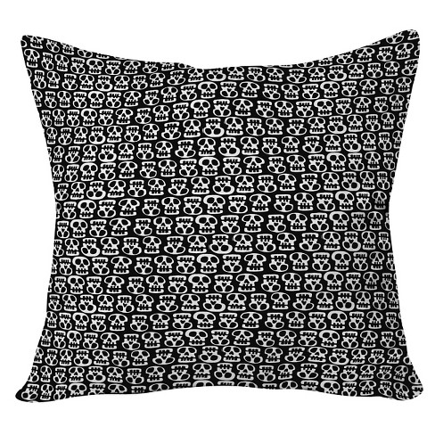 "Black Aimee St Hill Skulls Throw Pillow (20""x20"") - Deny Designs® - image 1 of 3"
