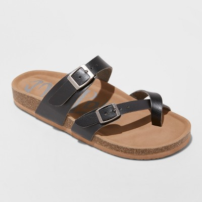 0327a3fcc8aa Women s Wide Width Mad Love Prudence Footbed Sandal - Dark Brown 10W    Target