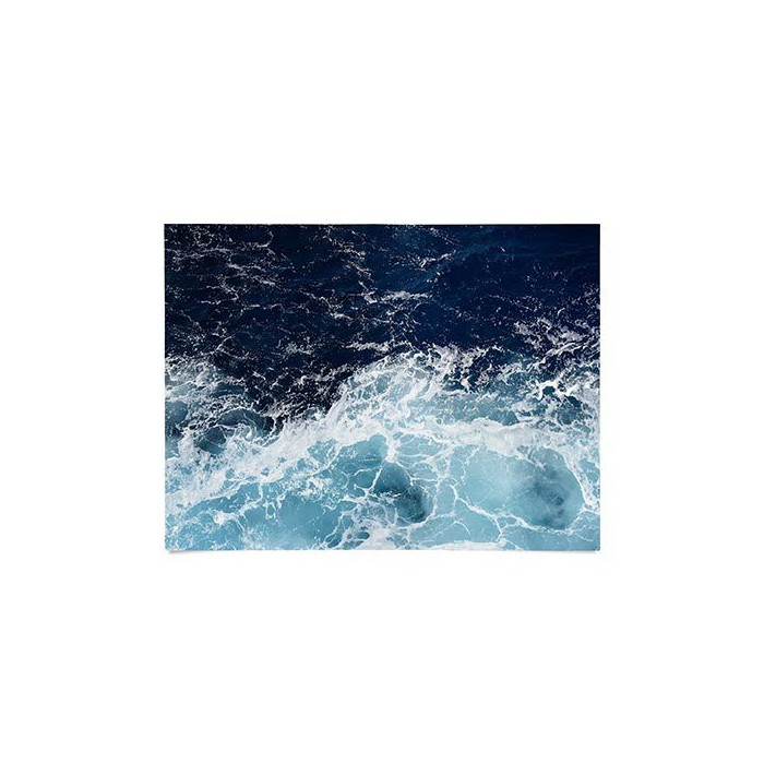"18""x24"" Lisa Argyropoulos Sea Swish Unframed Wall Poster Print Blue - Deny Designs - image 1 of 1"