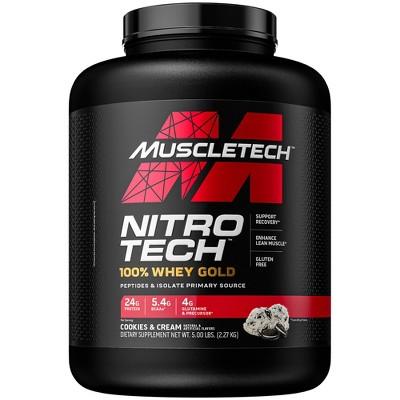 Muscletech Nitro Tech, 100% Whey Gold Protein Powders