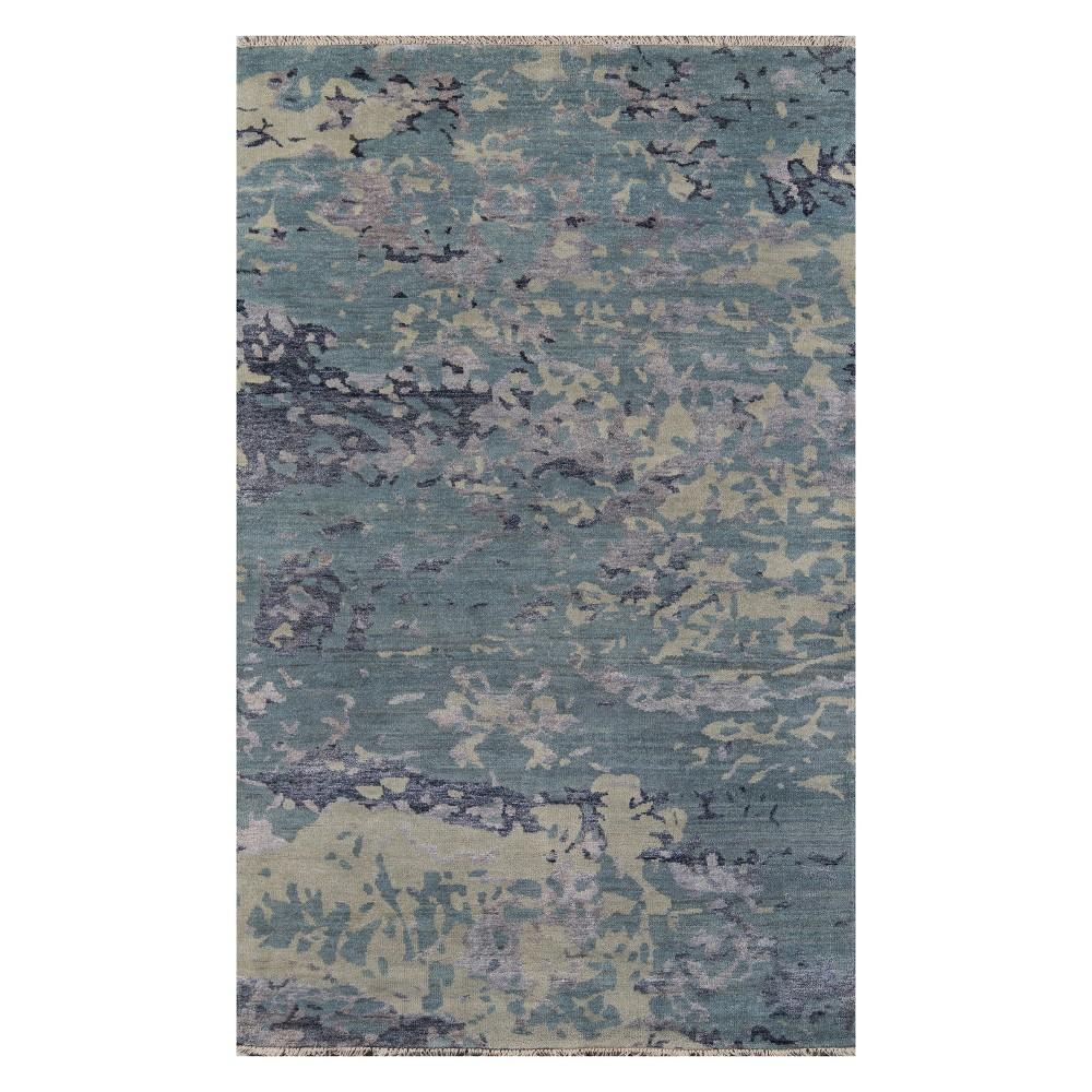 8'X11' Splatter Knotted Area Rug Blue - Momeni