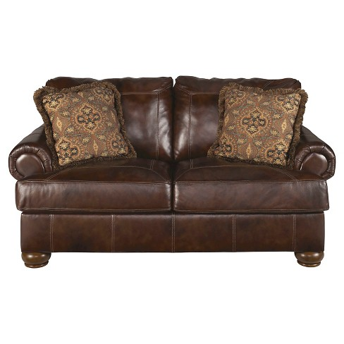 Axiom Loveseat Walnut - Signature Design by Ashley - image 1 of 1