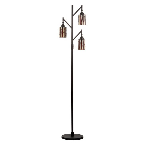 "71"" Clark Tiffany Style Multi Light LED Floor Lamp Bronze (Includes Energy Efficient Light Bulb) - JONATHAN Y - image 1 of 4"