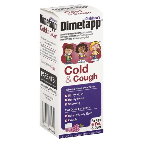 Children's Dimetapp Cough & Cold Relief Liquid - Dextromethorphan - Grape - 4 fl oz - image 1 of 1