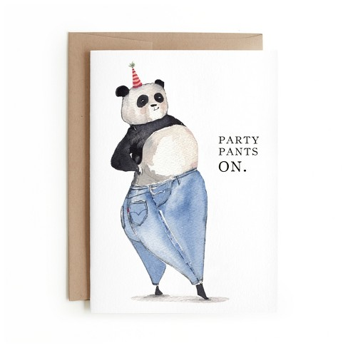 Minted Party Pants Card - image 1 of 1