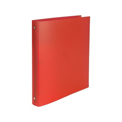 Staples Simply Poly 1-Inch Round 3-Ring Non-View Binder Red (15149-CC)