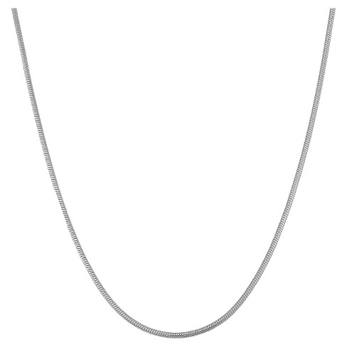 "Adjustable Snake Chain In Sterling Silver - 16"" - 22"" - image 1 of 2"