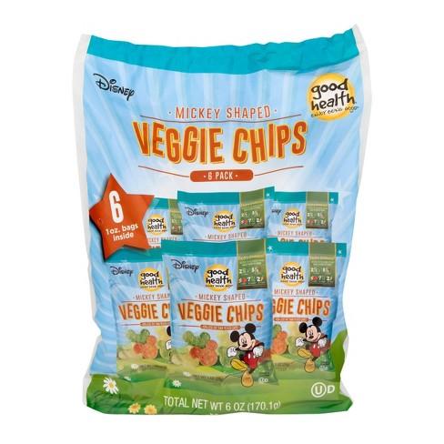 Good Health Disney Mickey Shaped Veggie Chips - 6oz - 6ct - image 1 of 3