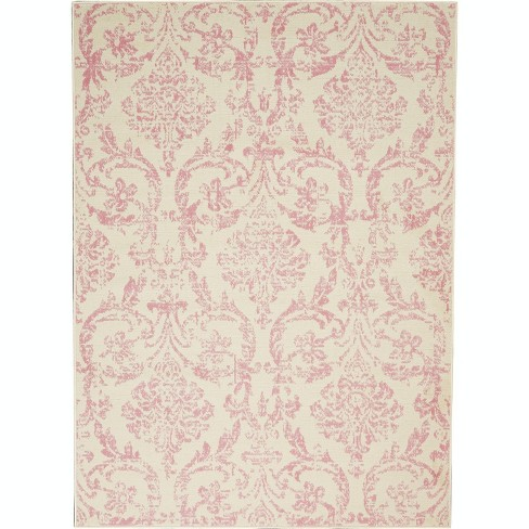 Jub09 Ivory Pink Indoor Area Rug