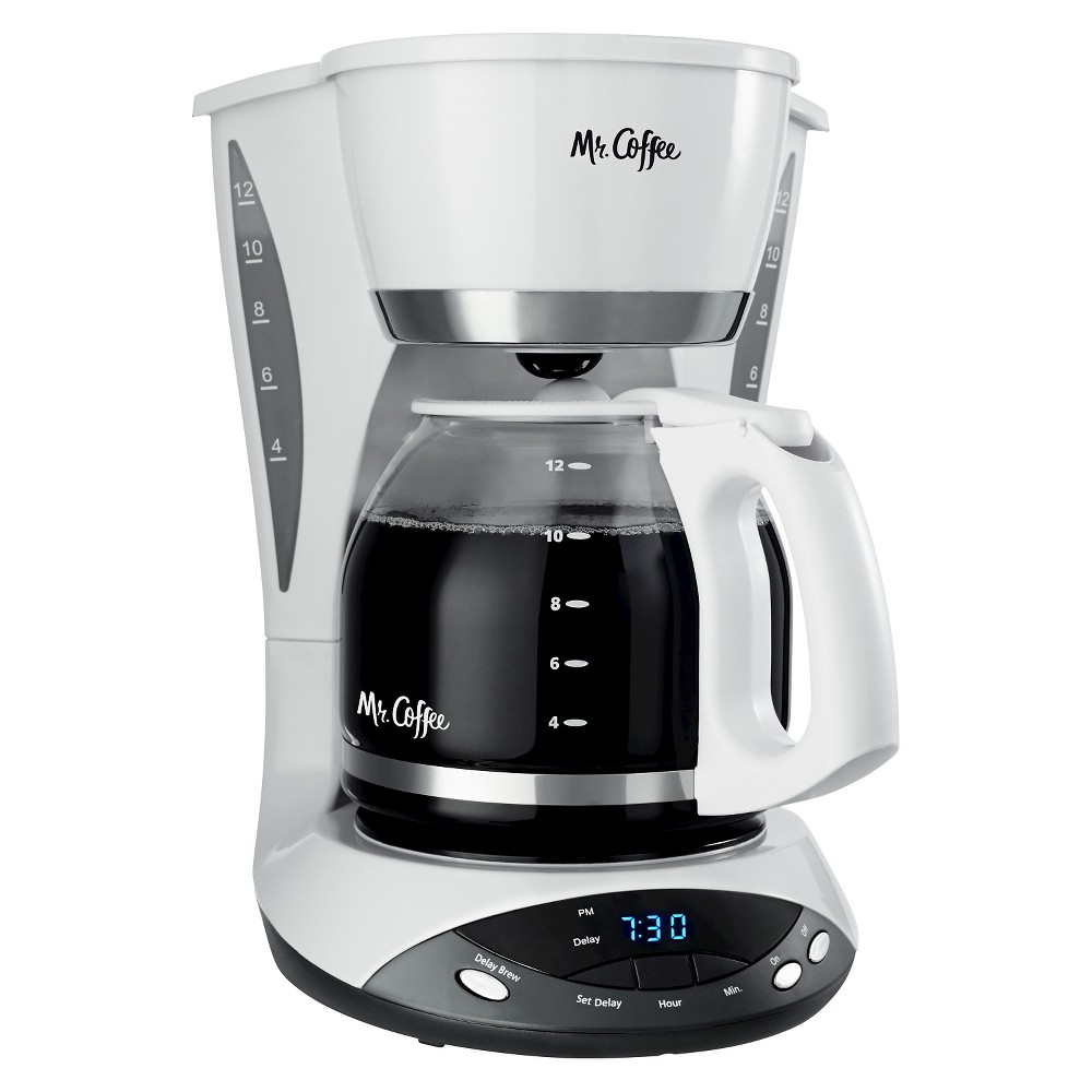 Mr. Coffee 12 Cup Coffee Maker -White DWX20, White 16391438