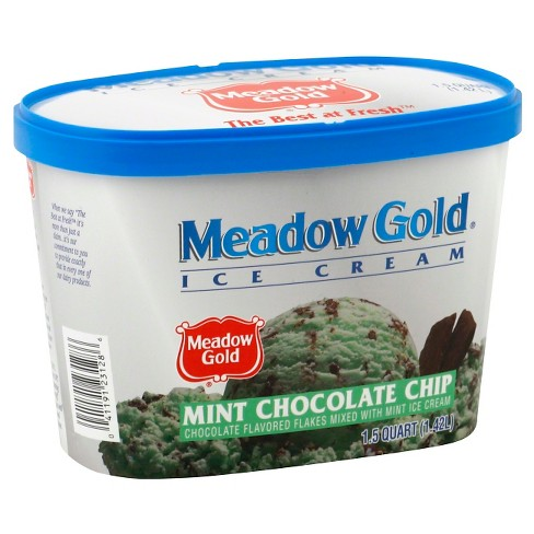 Meadow Gold Mint Chocolate Chip Ice Cream 48oz - image 1 of 1